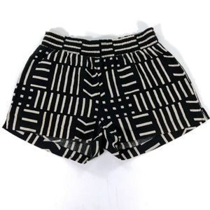 Madewell XXS Black White Abstract Striped Shorts